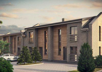 """Vieno bei dviejų butų gyvenamųjų namų kvartalas """"Kunigiškių"""" gyvenvietėje. Palanga"""