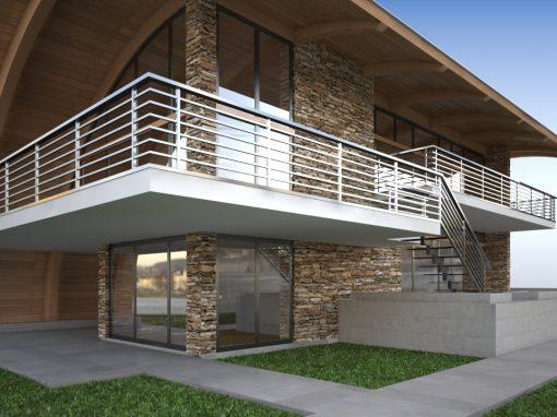 Vieno buto gyvenamojo namo statybos projektas. Kuršių takas 19, Palanga