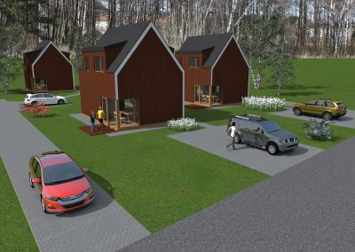 Vieno buto gyvenamųjų namų komplekso statybos projektas. Tremtinių g. 11, Palanga