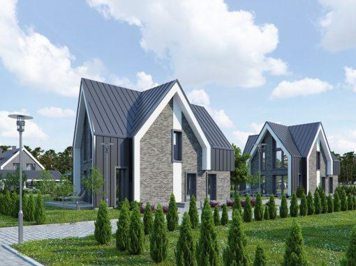 """Vieno bei dviejų butų gyvenamųjų namų kvartalas """"Kunigiškių"""" gyvenvietėje. Vaivorykštės g. 67, Palanga"""