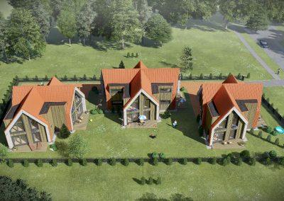 """Dvibučiai gyvenamieji namai """"Kunigiškių"""" gyvenvietėje. Užkanavės g. 52, Palanga"""
